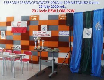 Zebranie Koła PZW 109 METALURG Kutno